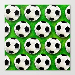 Soccer Ball Football Pattern Canvas Print