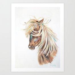 ICELANDIC HORSE // STAY WILD Art Print