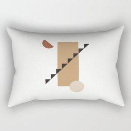 Geometric Ascent Rectangular Pillow