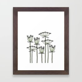 wild carrots Framed Art Print