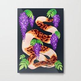 Wisteria ball python Metal Print