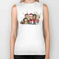 liam payne Biker Tanks featuring It's Christmas, Liam Payne by Ashley R. Guillory
