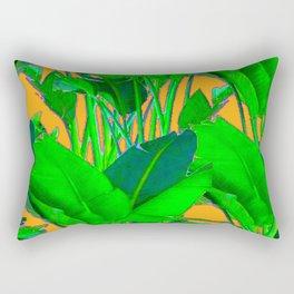 BRIGHT GREEN & GOLD TROPICAL FOLIAGE ART Rectangular Pillow