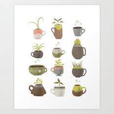MUGS PLANTS MUGS COFFEE MUGS TEA Art Print