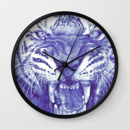 Roaring Tiger Wall Clock