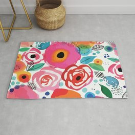 Abstract Floret Rug