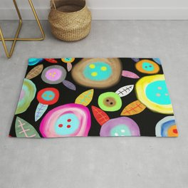 Ruth Fitta Schulz - Watercolour Floral Honey moon romantic and sweet Rug