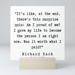 111  | Richard Bach Quotes | 190916 Mini Art Print