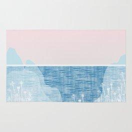 Pastel Sea Landscape Design Rug