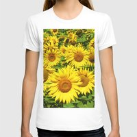sunflowers T-shirts featuring Sunflowers. by Assiyam