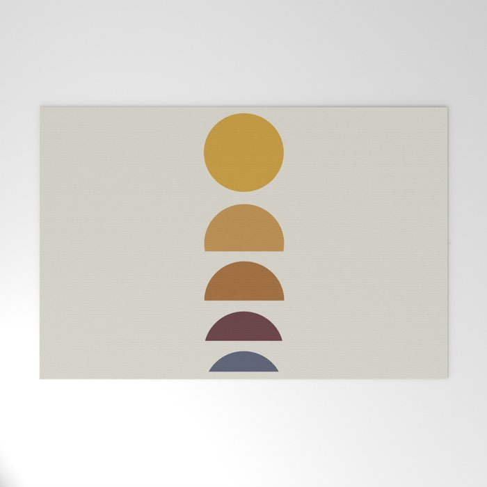Minimal Sunrise / Sunset Welcome Mat