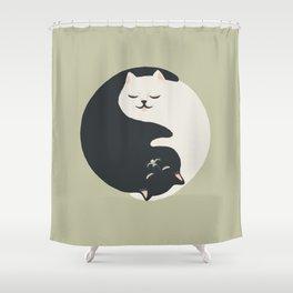 Hidden cat 26 yin yang hug Shower Curtain