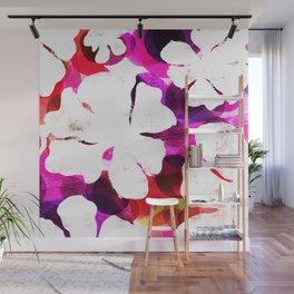 Large Hawaiian Tropical Blooms Wall Mural