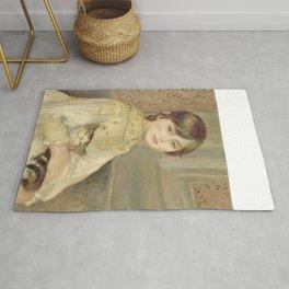 """Auguste Renoir """"Julie Manet"""" Rug"""