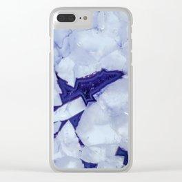 Purple Snow Clear iPhone Case