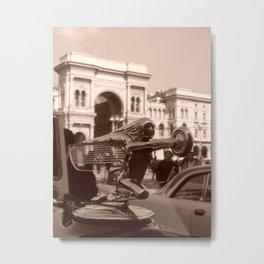 Vintage Packard in Piazza Duomo Metal Print