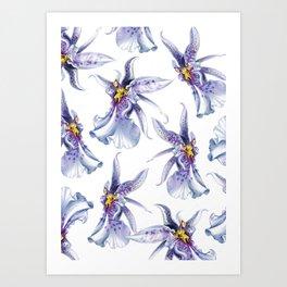 GLOWY ORCHIDS Art Print