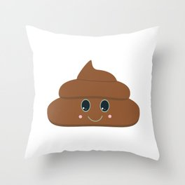 Happy poo Throw Pillow