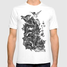 Scarecrow II White MEDIUM Mens Fitted Tee