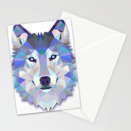 Colorful Wolf Stationery Cards