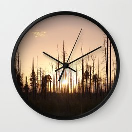 A Forest's End Wall Clock