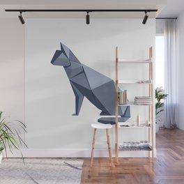 Origami Cat Wall Mural