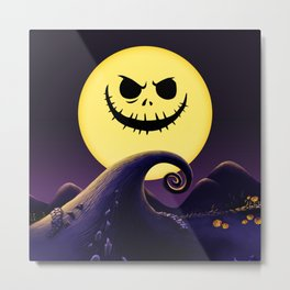 NIGHTMARE PUMPKIN Metal Print