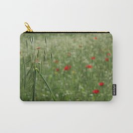 Seed Head With A Beautiful Blur of Poppies Background Carry-All Pouch