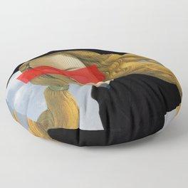Das Mädchen mit dem Hut Floor Pillow