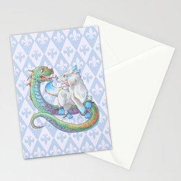 Baby Fenrir and Jörmungandr Stationery Cards
