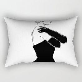 Woman in dress Rectangular Pillow
