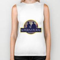 supernatural Biker Tanks featuring Supernatural  by amirshazrin