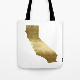 california gold foil state map  Tote Bag
