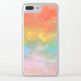 Rainbow Mist Clear iPhone Case