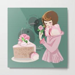 Rose Chiffon Cake Metal Print