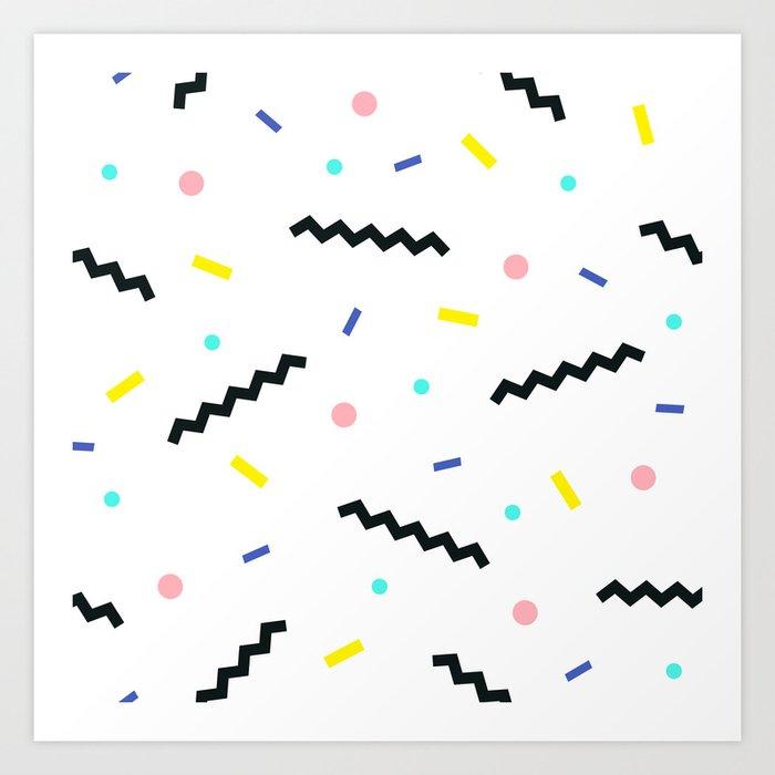 Memphis pattern 59 Art Print by dizzymoments