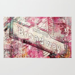 Broadway sign New York City Rug