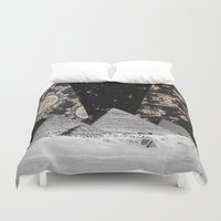 egypt Duvet Covers featuring Egypt by Mrs Araneae