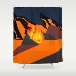 Telling a Story to a Fire Shower Curtain