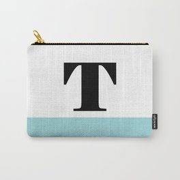 Monogram Letter T-Pantone-Limpet Shell Carry-All Pouch
