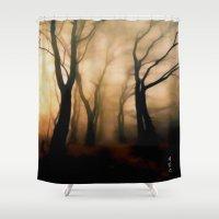 fog Shower Curtains featuring Fog by Nev3r