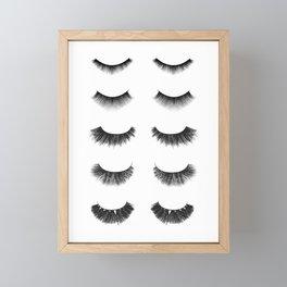 Lashes Framed Mini Art Print