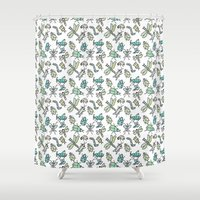 bugs Shower Curtains featuring Bugs by Jen Gottlieb