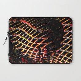5502s-MAK Space Time Vulva Abstract Art Rendered in Acrylic by Chris Maher Laptop Sleeve