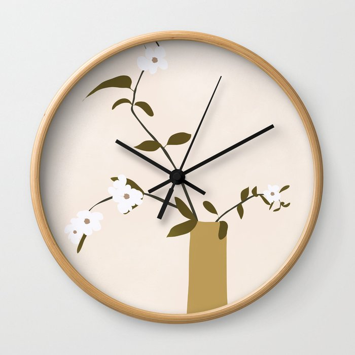 Flowers in the Vase Wall Clock
