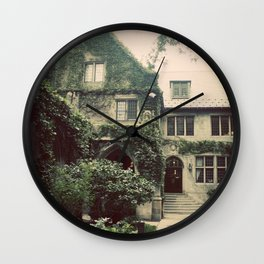Courtyard Building Color Photo Wall Clock