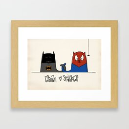 Catman ♥ Spidercat Framed Art Print
