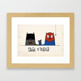 Catman ♥ Spidercat Framed Art Print