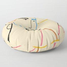 COFFEE IN THE GARDEN Floor Pillow