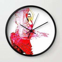 Bailarina Española ( Spanish Dancer ) Wall Clock